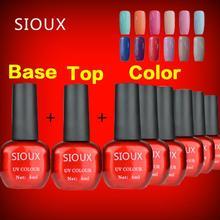 7 pçs/lote cor UV unhas de Gel polonês 6 ml cartilha Base de Gel Coat + 6 ml Top Gel Sealer Dimand No limpa Manicure cosméticos(China (Mainland))