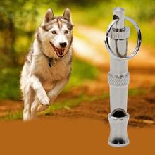 1 set High Quality Metal Dog Puppy Whistle Ultrasonic Adjustable Sound Key Training Free shipping ZH346