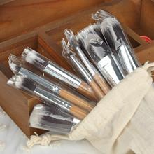 Women Foundation Make-up Set 10pcs/set New BAMBOO Makeup Brush Set Make Up Brushes tools X60*HJ0210#M2