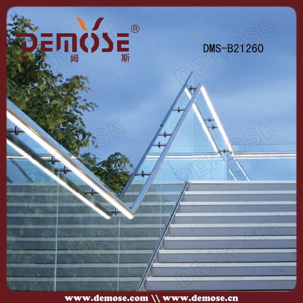 exterior frameless glass fence for steps(China (Mainland))