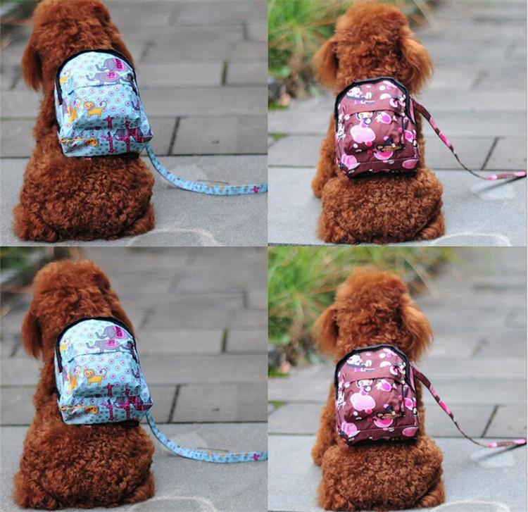 Dog Vest Leash Vest Bag Carrier Dog