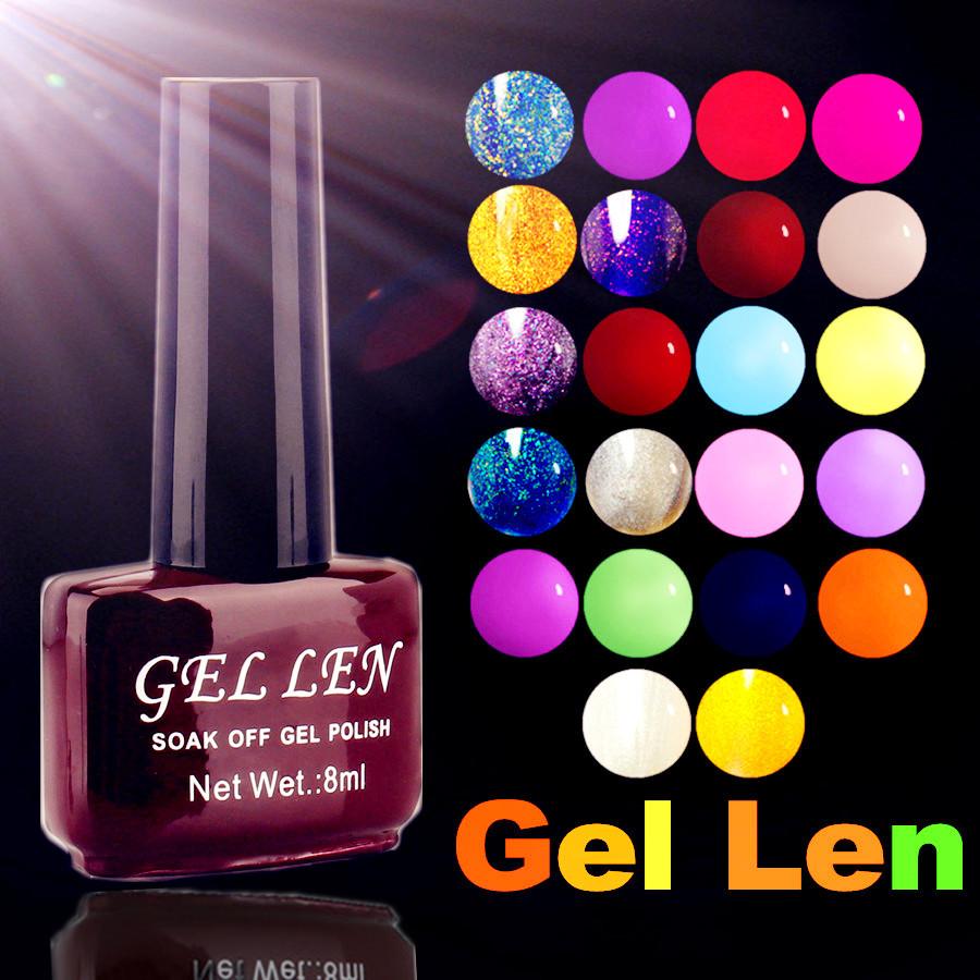 Gel Len Soak off Candy Color UV Gel Nail Polish 0.28 fl.oz. (8 ml) long lasting nail varnish gel lacquer 300 Colors for choose(China (Mainland))