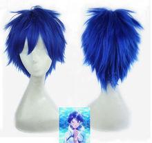New Adult Free Rei Ryugazaki Short Men's Hair Wig Cosplay Wigs Colors Blue