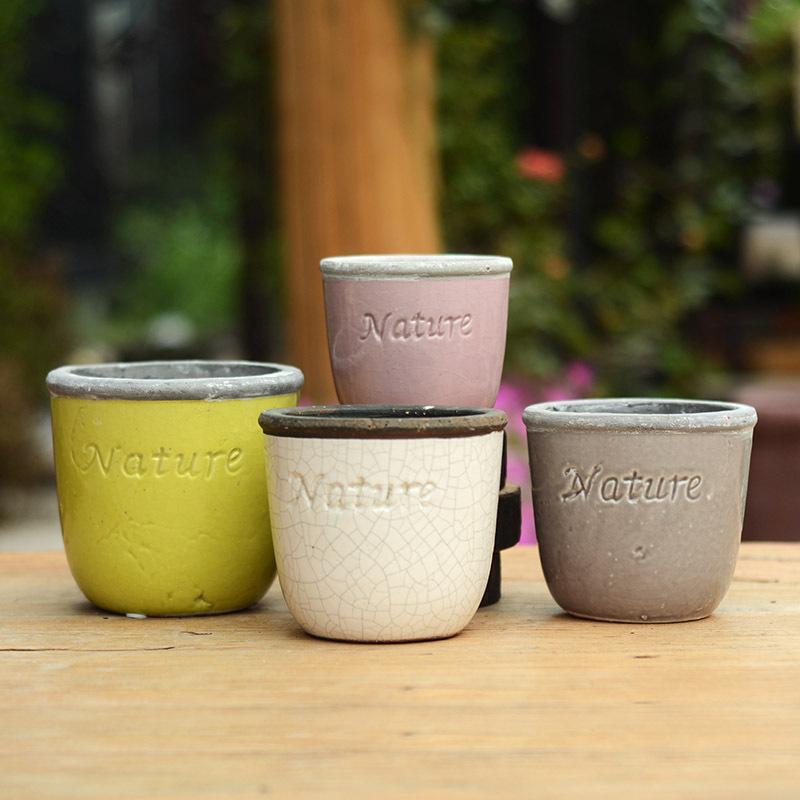 free shipping Ceramic pots European retro do the old clay ceramic stoneware ceramic pots of colorful holiday 6 #(China (Mainland))