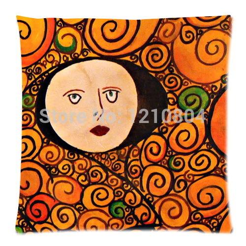 2014 New !Austria Symbolon Painting Artist&Gustav Klimt Works Background Printed Comfortable Cushion&Pillow Slip(China (Mainland))
