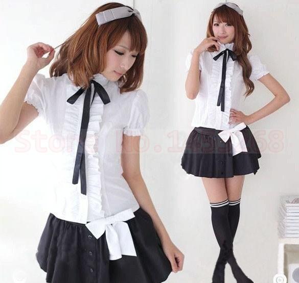 2015 nouvel an mode uniforme scolaire japonais jupe + Top classe ...