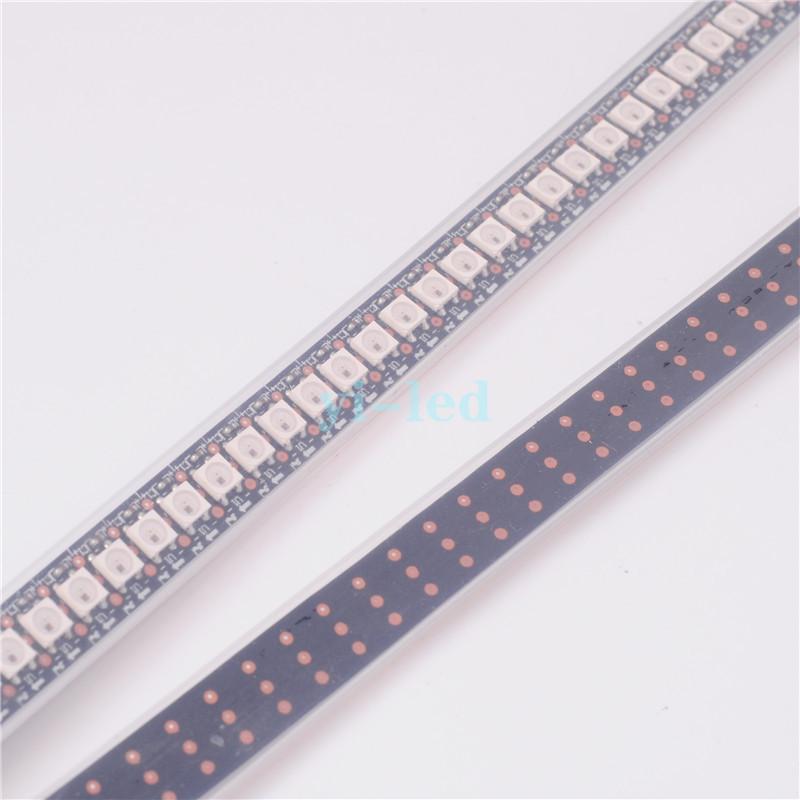 LED Strip Light 144 Pixels LEDs 5050 SMD RGB WS2812B 2812 WS2812 LED Chip Black PCB WS2811 IC Digital DC5V Waterproof(China (Mainland))