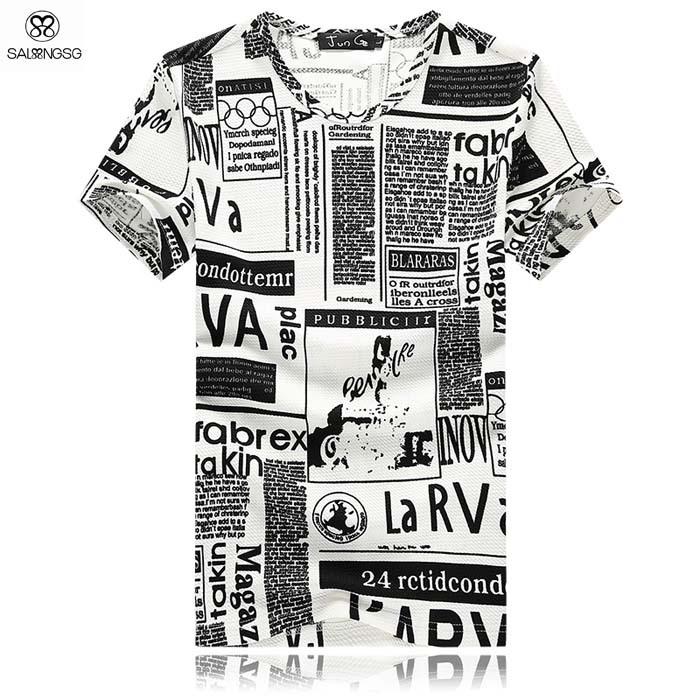 2015 New Mens Summer Tops Tees Short Sleeve t shirt Man Plus Size Girl Print Hip Hop Cotton t-shirts Men Brand Designer Clothing(China (Mainland))