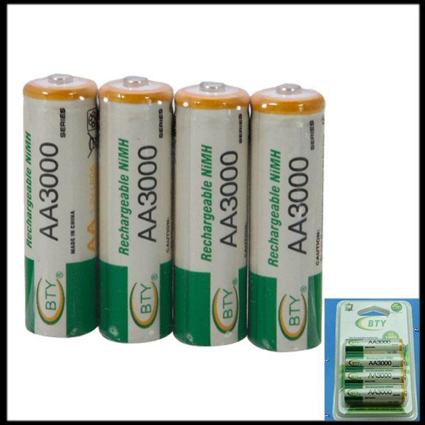 by DHL or EMS 2000 pack AA 3000mAh NiMH Ni-MH Rechargeable Battery(China (Mainland))