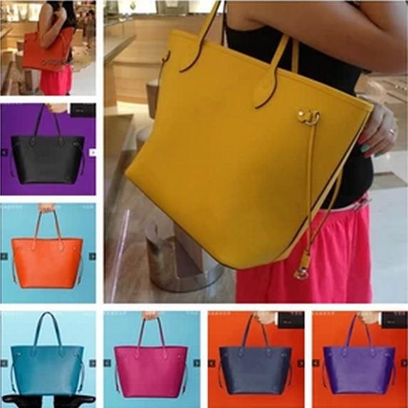Neverfull epi water ripple shoulder bag name.brand famous women handbag luxury natural genuine leather Medium/Big m40931 m40882(China (Mainland))