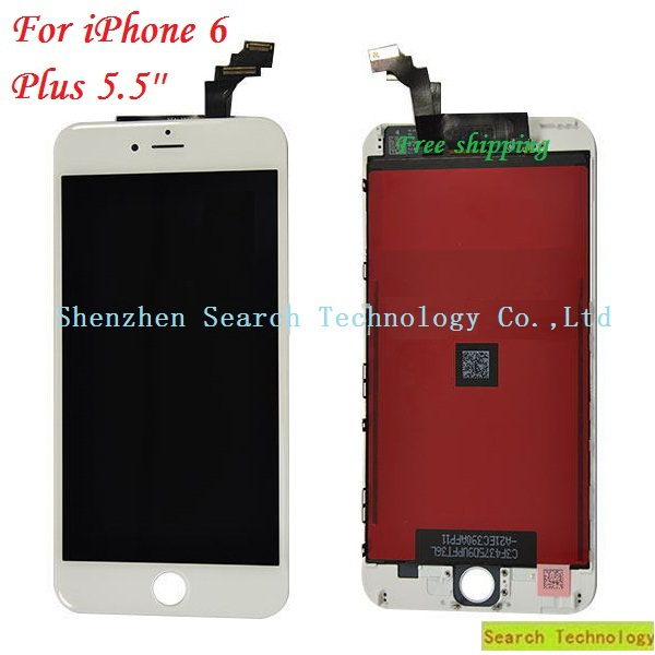 Whole Color For iPhone 6 Plus 5.5'' High-quality Original LCD Screen+Digitizer Touch Screen Assembly with Frame,Free Shipping!!(China (Mainland))