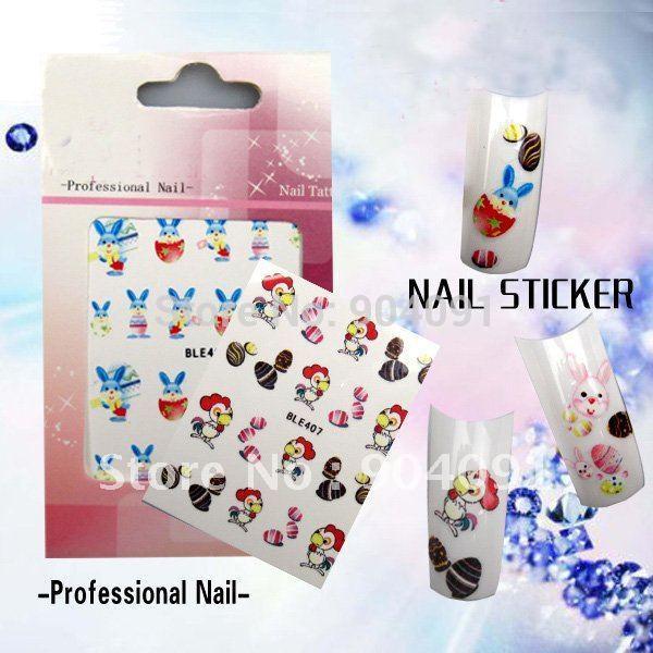 HotSale 20Sheet/LOT Easter series Nail Sticker/nail art sticker nail accessories for nail accessories+own individually packaging(China (Mainland))