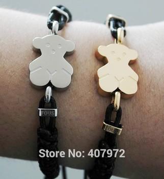 2015 новых женщин браслеты медвежонок браслет милый медведь браслеты вязать браслет tb318