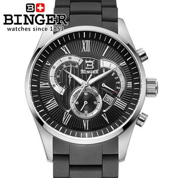 Лучший бренд бингер 2015 новая военная часы свободного покроя кварцевые наручные часы класса люкс хронограф и 24 ч. функция мужчины спортивные часы