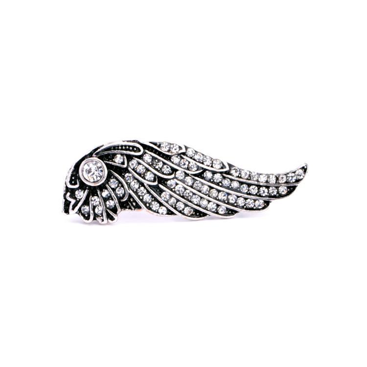 Burn Silver Restoring Ancient Women's Brooch Wings Brooch(China (Mainland))
