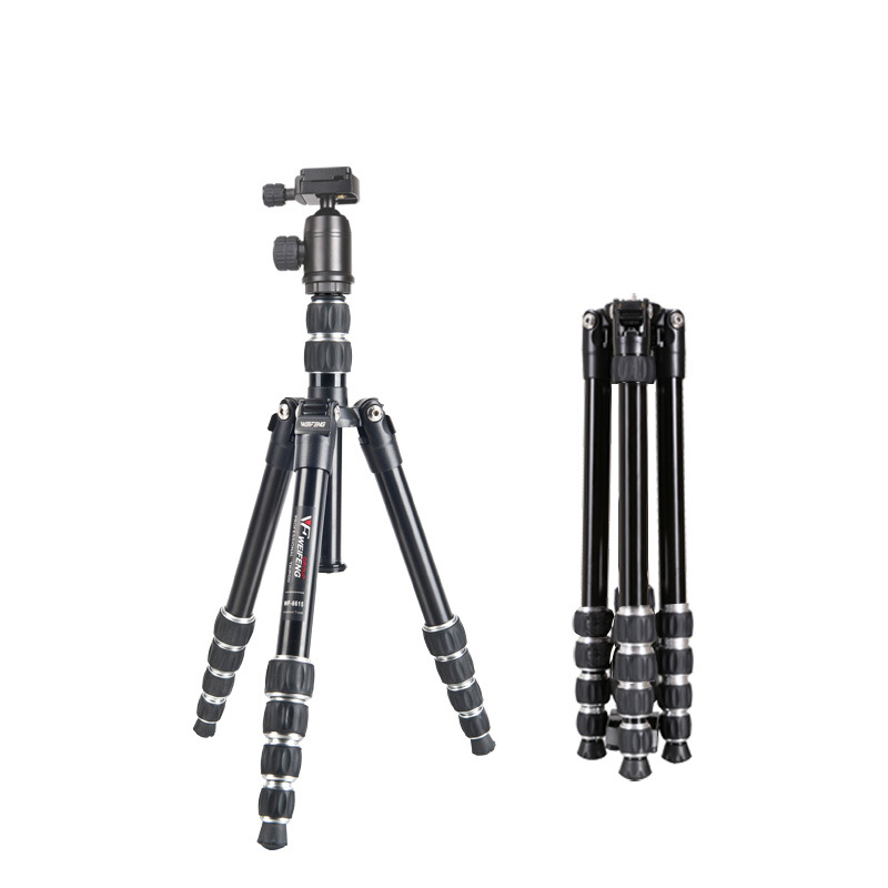 DHL Free Shipping WF-6615B Aluminum Portable Travel Camera Tripod For Canon Nikon SLR Carrying Bag 4 Section Max Loading 3kg(China (Mainland))