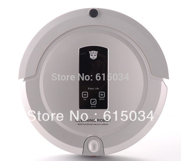 With Newest Technology Shining Logo,Best 4 In 1 Multifunctional Robot Vacuum Cleaner 325 ,With 2-way virtual wall(China (Mainland))