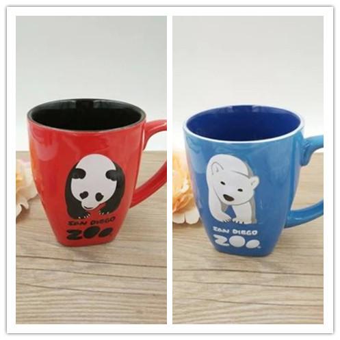 Wonderful friends panda bears personalized mug cute mug cup large capacity 610ml(China (Mainland))