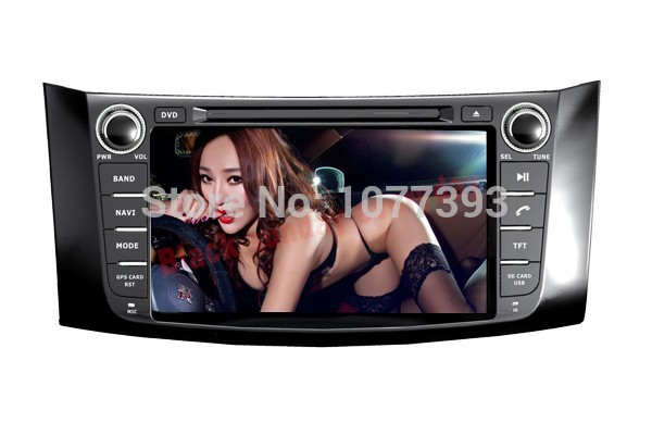 8 Inch 2 Din Car DVD Player for Nissan Bluebird Sylphy (2012-2013),DVD/GPS/RDS/IPOD/BT/Analog TV/Remote Control/Rear Reviewing(China (Mainland))