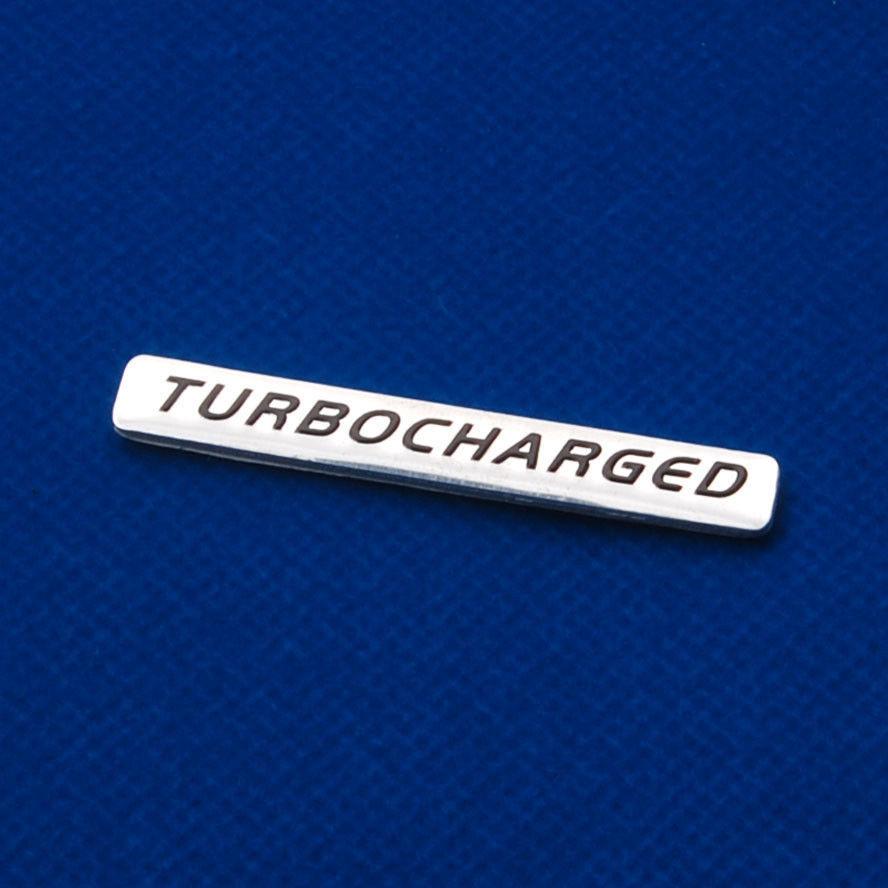Auto Car Aluminum TURBOCHARGED Turbo Charged Hood Engine Emblem Badge Sticker(China (Mainland))