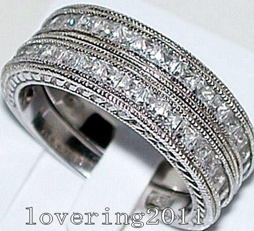 Виктория вик старинные ювелирные изделия 6 мм топаз моделируется алмаз белого
