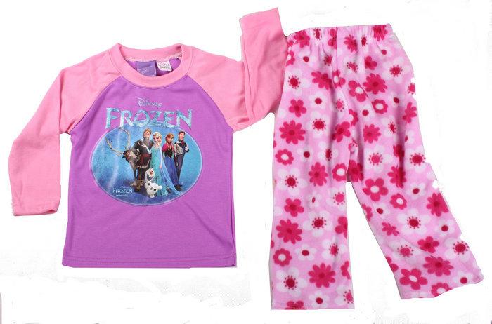 2015 New Spring Girls Princess Pajamas Children's Elsa & Anna Pijamas 100% Cotton Baby Sleepwears Kids Printed Clothing set(China (Mainland))