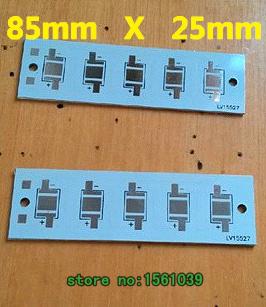 5-20pcs Wholesale LED aluminum plate 5w 85 x25mm , 5 Series led high power aluminum plate PCB LED board aluminum base plate.(China (Mainland))