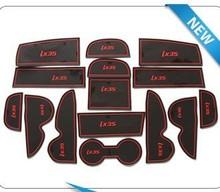 15pcs Non-slip pad,door tank pad, rubber door gate slot mat, cup mat/pad  case for Hyundai ix35 Free shipping(China (Mainland))