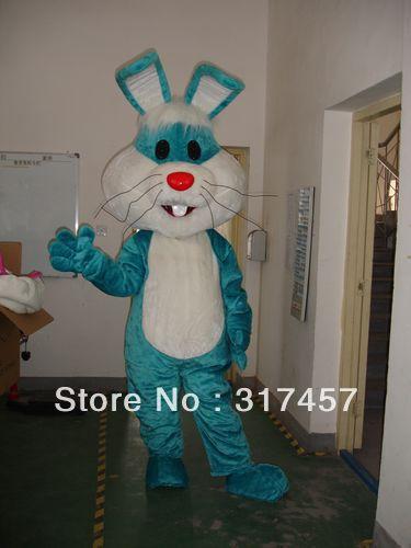 NEW Blue Rabbit Mascot Costume Adult Character Costume Cosplay mascot costume free shipping(China (Mainland))