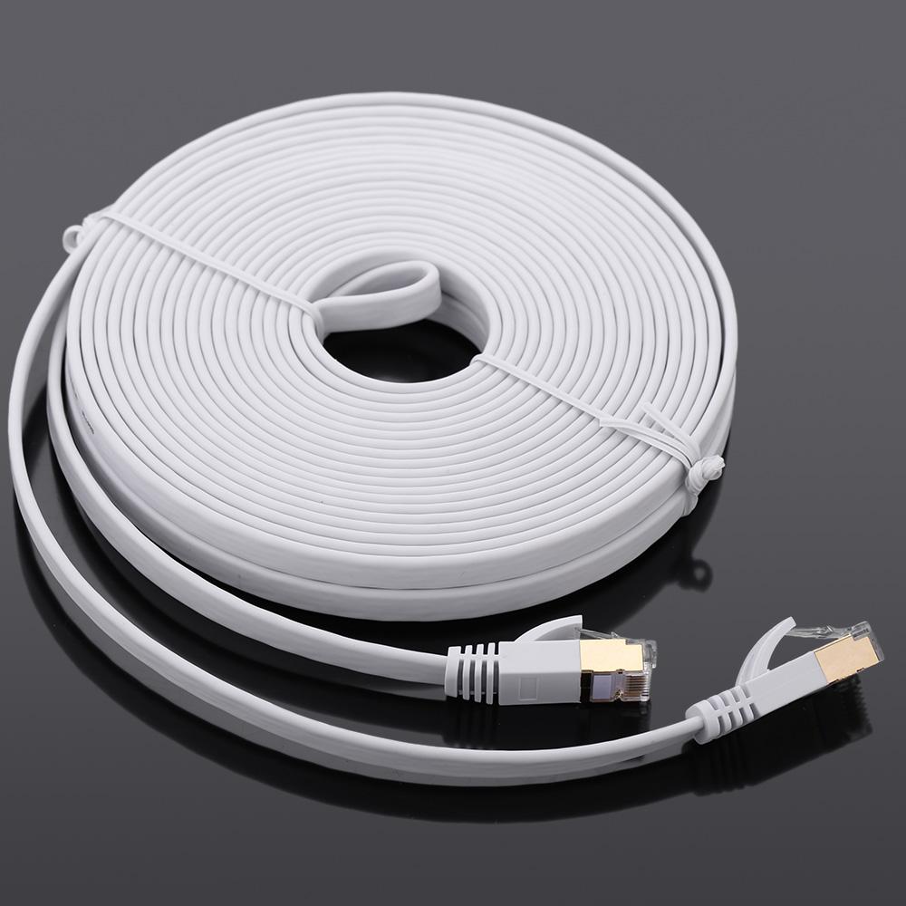 Потребительские товары Cat7 SSTP RJ45 LAN Cable 15 10Gbps Cat7 SSTP RJ45 LAN C2105-15-470 cat7 ethernet cable rj45 flat shielded sstp netwok lan cable patch cord 1 2 3 15 30m modem router laptop cat 7 ethernet cable
