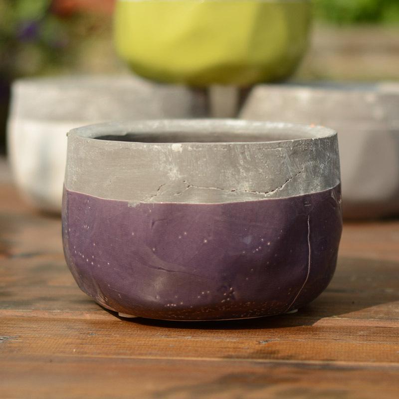 free shipping Ceramic flower pot to do the old retro ceramic clay stoneware ceramic pots ripples # 13(China (Mainland))
