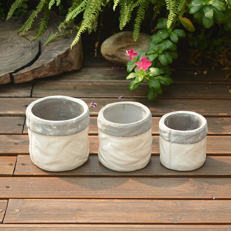 free shipping Ceramic flower pot to do the old retro ceramic clay stoneware ceramic pots ripples # 3(China (Mainland))