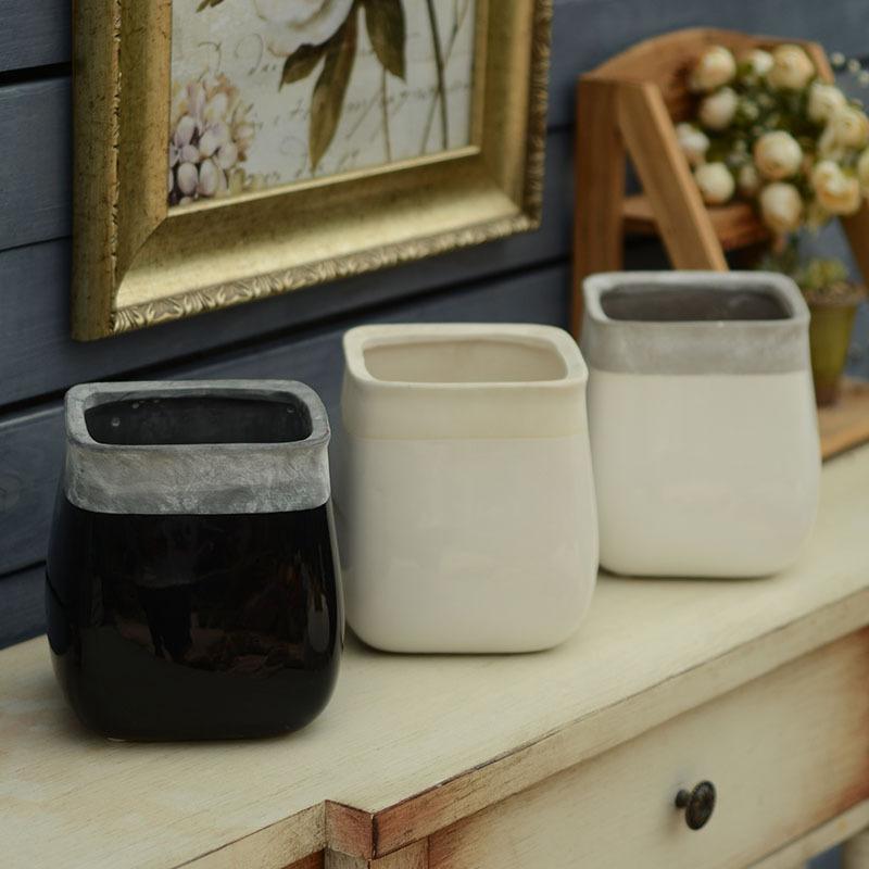free shipping Ceramic pots European retro do the old clay ceramic stoneware ceramic pots tumbler 2 #(China (Mainland))