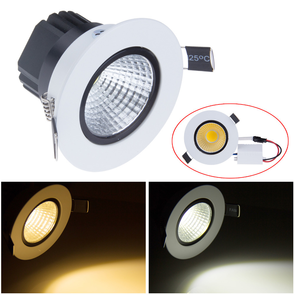 Dimmable 5W 7W COB LED Ceiling Light 110V Warm White Cold White Recessed LED Lamp Down Light For Home Lighting(China (Mainland))
