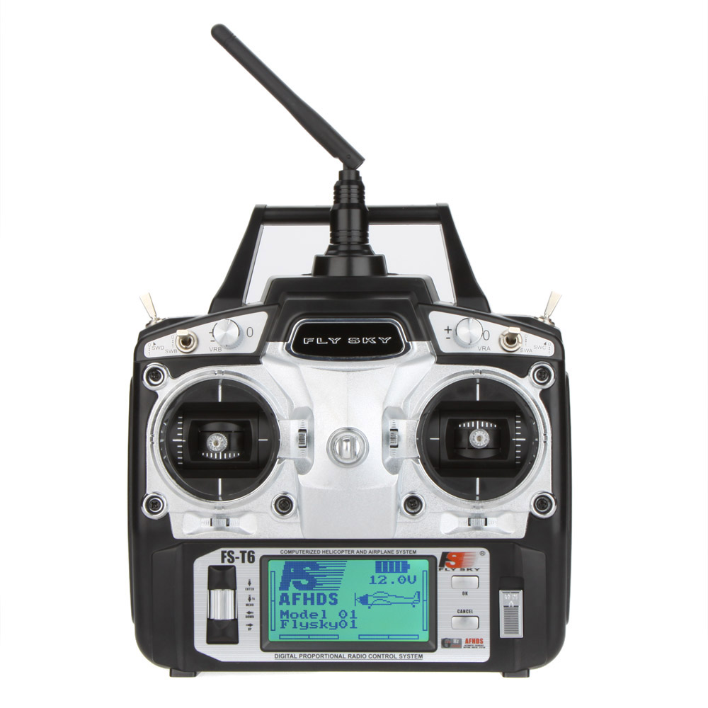 Original Flysky FS-T6 2.4GHz 6CH Mode 2 Transmitter W/Receiver R6-B for RC Multirotor Quadcopter Helicopter Airplane Glider Car(China (Mainland))