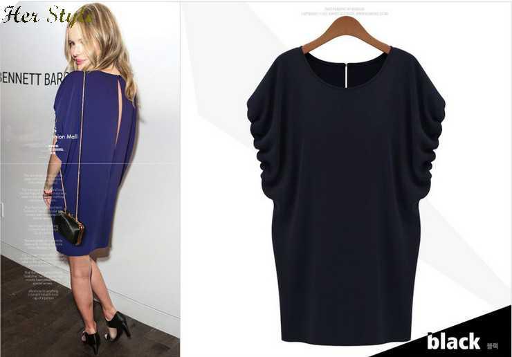 Free Shipping 7405 summer dresses t loose irregular size chiffon pleat split 20150333(China (Mainland))