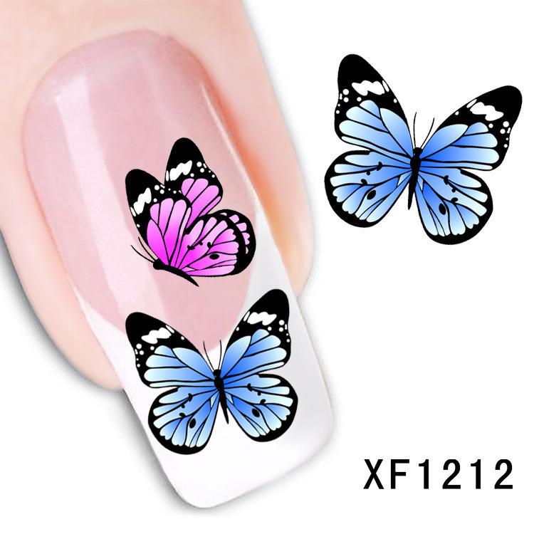 Fashion 1 Sheets 3D Design cute DIY cartoon colorful diamonds Tip Nail Art Nail Sticker Nails Decal Manicure nail tools XF1212(China (Mainland))