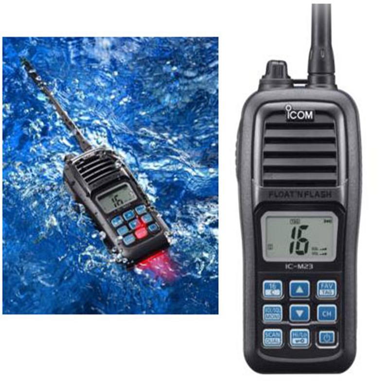 IC-M23 Marine VHF Handheld - Waterproof - Float and Flash Portable Waterproof IPX7 buoyant Boat Radio ICM23(China (Mainland))