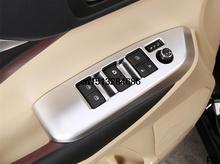 High quality 4 pcs ABS chrome 2015 Toyota Highlander accessories glass elevator decoration armrest decoration
