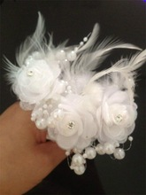 Summer Girl Feather Crystal Pearl Flower Wedding Bridal Party Hair Pin Clip