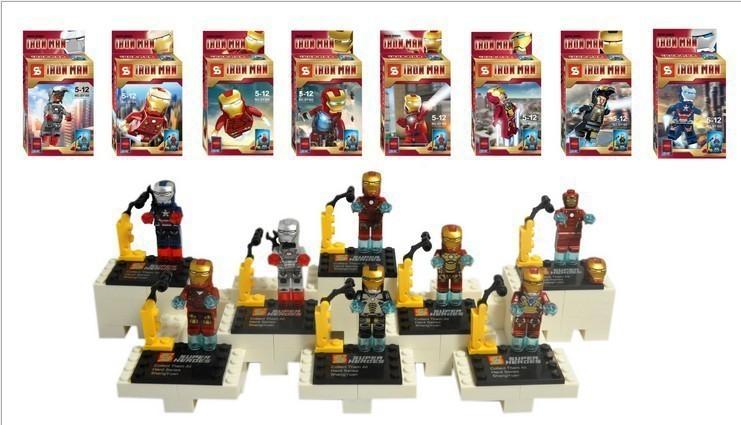 8pcs Baby Toys Super Heroes Star Wars Alliance 8 design superman /Iroman minifigures construction brick block sets,Kids toys(China (Mainland))