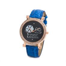 2015 Luxury Elegant EXO Women Watch Stainless steel Famous Brand Leather Wristwatch Fashion Ladies Dress Watch
