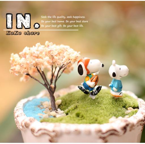 zakka 2015 New creative home micro garden decoration Cartoon cute dogs puppy 3D animal model Action Figure Toys DIY resin crafts(China (Mainland))