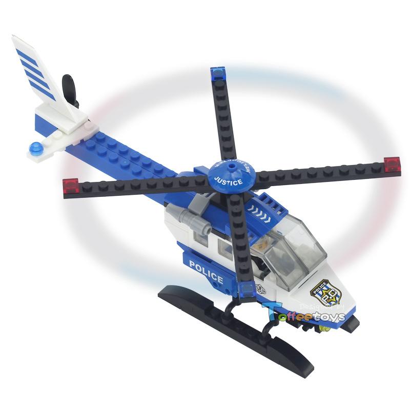 114pcs model building blocks toys hobbies helicopter miniature blocks original model airplane police style 10119(China (Mainland))