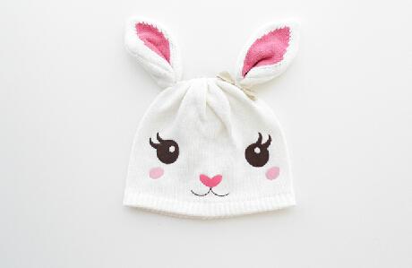new 2014 autumn winter baby hats kids accessories cap girls Lovely rabbit knitted hats children warm beanies(China (Mainland))