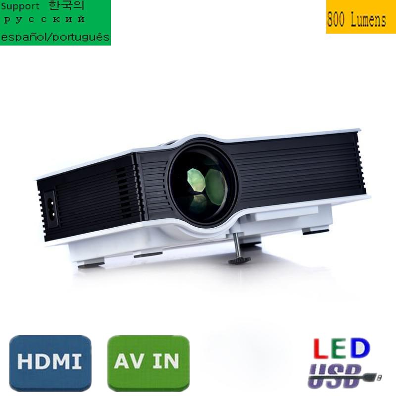 Portable UC40 Mini Projector LED Proyector Video HD 720P 1080P Projektor Beamer Home Theater Cinema AV TV VGA HDMI Projecteur(China (Mainland))