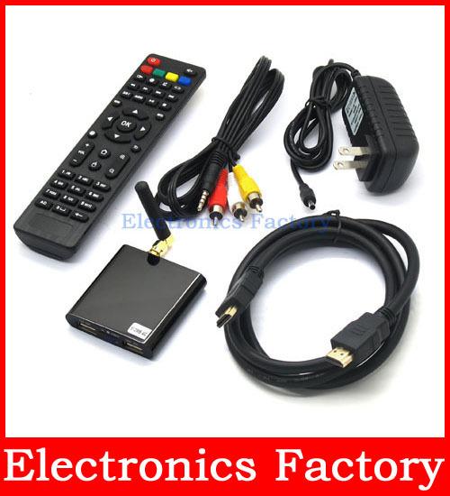 Android 4.04 HDMI 1080p Full Hd Mini X Cortex TV box PC Lan Network media Player Game Video Player Wifi Tf Card(Hong Kong)