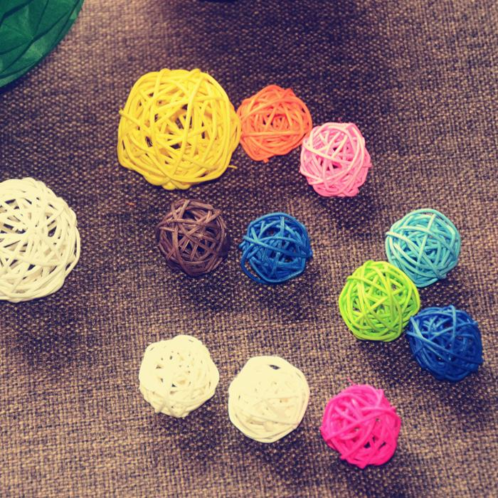 50PCS Rattan Ball Festival Event Party Supplies Wedding House Bar Decoration Ornament Craft Ball 3cm(China (Mainland))