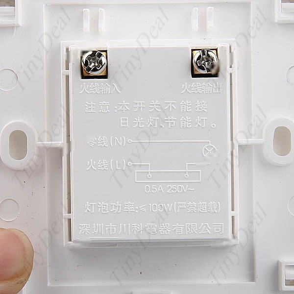 Lazydog Two-Wire System Wall Mount Touch Sensor On Off Light Switch Circuits with 55-75s Time Delay AC 180-250V HHE-25531(China (Mainland))