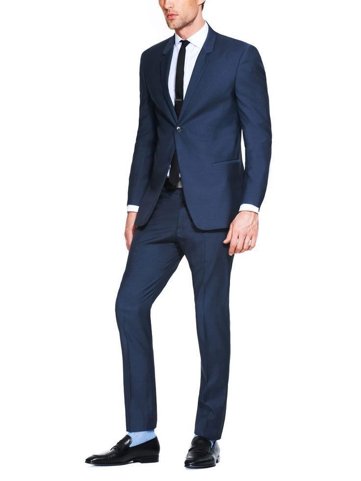 Blue Man Suit Wedding Groom